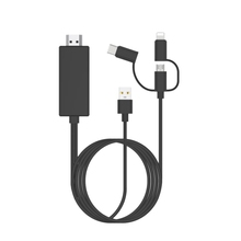 ABKT-USB To HDMI Mirror Cast Cable with Audio MHL for IPhone IPad Apple interface Android Phone To LED TV Micro-USB Type C To HD