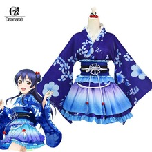 купить ROLECOS LoveLive Cosplay Sonoda Umi Cosplay Costume Kimono Love Live Nishikino Maki Honoka Honoka Eli Kimono Costume дешево