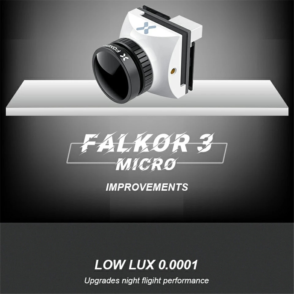 Foxeer Falkor 3 HD Camera Mini/Micro 1200TVL 1.7mm Lens 4:3/16:9 PAL/NTSC Switchable G WDR DC5 40V FPV Foxeer RC Racing Drone|Parts & Accessories| - AliExpress