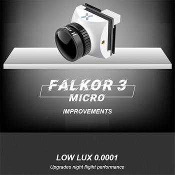 Foxeer Falkor 3 kamera HD Mini Micro 1200TVL 1 7mm obiektyw 4 3 16 9 PAL NTSC przełączane G-WDR DC5-40V FPV Foxeer RC Racing Drone tanie i dobre opinie FEIYING CN (pochodzenie) Materiał kompozytowy FPV Camera Pojazdów i zabawki zdalnie sterowane Foxeer falkor3 Samoloty