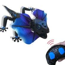 Электрический RC дистанционное управление ящерица инновационный Робот Инфракрасный искусственная ящерица реалистичные ползать смешной ловкий Игрушки для мальчиков