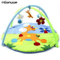 Cartoon Baby ​Activity Gym 0 12M Play Mat Gym Fitness Rack Kids Rug Animals Pad Toys Crawling Cotton Carpet Game with Rattles