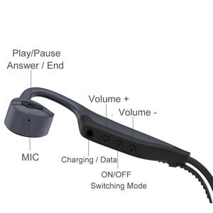 Image 5 - 2in1 Bluetooth Bone Conduction Headphone + MP3 Player Bass IPX8/IP55 Waterproof Wireless Earphone Sports Headset with Mic 16GB