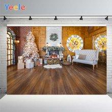 Yeele веселая Рождественская елка настенные часы фотофоны скамейка