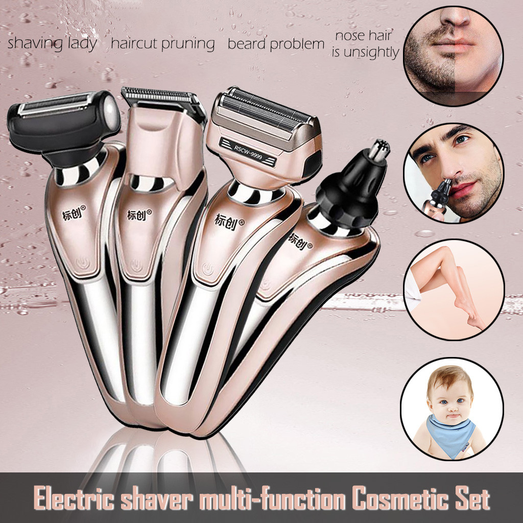 All-in-1 Rechargeable Electric Cutter Hair Cutting Machine Haircut Cordless Corded Hair Clipper Waterproof Electric Shaver Tool