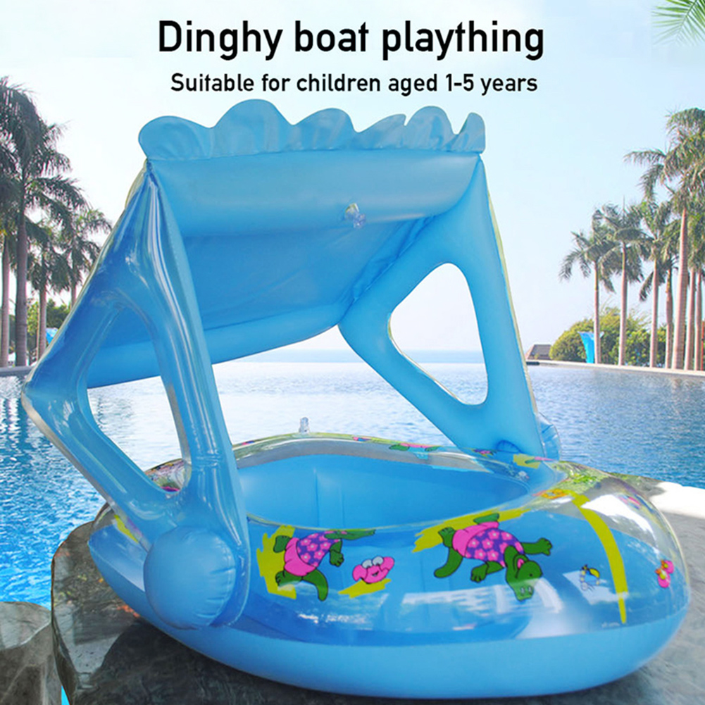 Baby Pool Float Cartoon Inflatable Boat Children Inflatable Swimming Pool Loungers Baby Summer Outdoor Pool Toys Float Raft