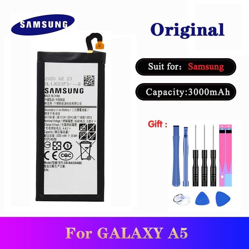Newest Original Battery EB-BA520ABE For Samsung Galaxy 2017 Edition A5 2017 A520F SM-A520F Genuine Phone Bateria AKKU 3000mAh