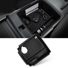 Органайзер для хранения автомобильной консоли, подлокотник, коробка для Kia Niro EV 2019, черные пластиковые коробки для хранения аксессуаров для ...