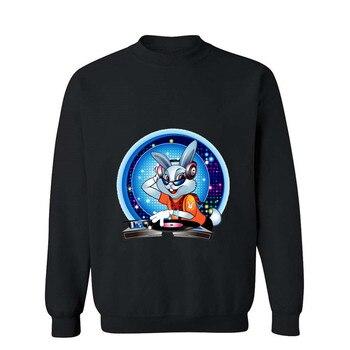 Men's Football Shirt Off White Gym Couture Hip Hop 100% Cotton Print Hoodie Men DJ Rabbit Sudadera Hombre Moletom printio dj rabbit