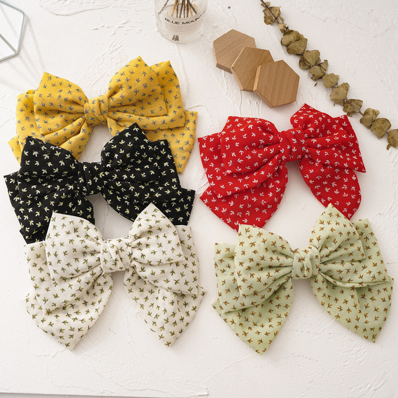Big Bow Three-layer Spring Clip Lady Hair Clip Sweet Japanese Style Girl Hairgrips Holiday Gift Women Headwear Hair Accessories