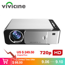 VIVICINE Newest V200 1280X720P LED HD Projector, Optional Android 7.1 Bluetooth,Support 4K Wifi HDMI USB LCD Home Theater Beamer(China)