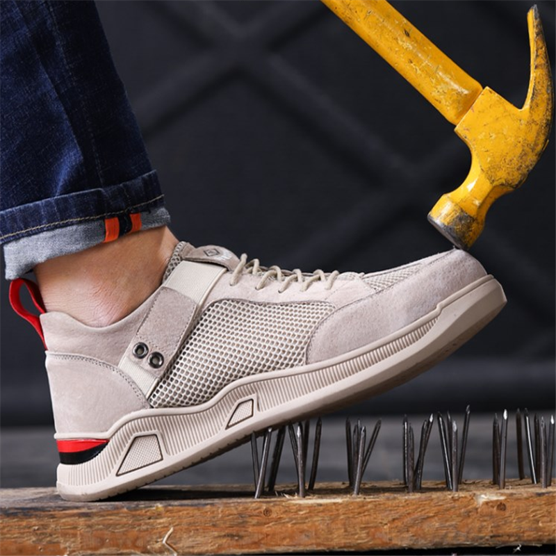 2020 KICKQZQP Plus Size Men&women Luxury Genuine Leather Steel Toe Work Safety Shoes Men Boots Sneaker Waterproof Designer Shoes image
