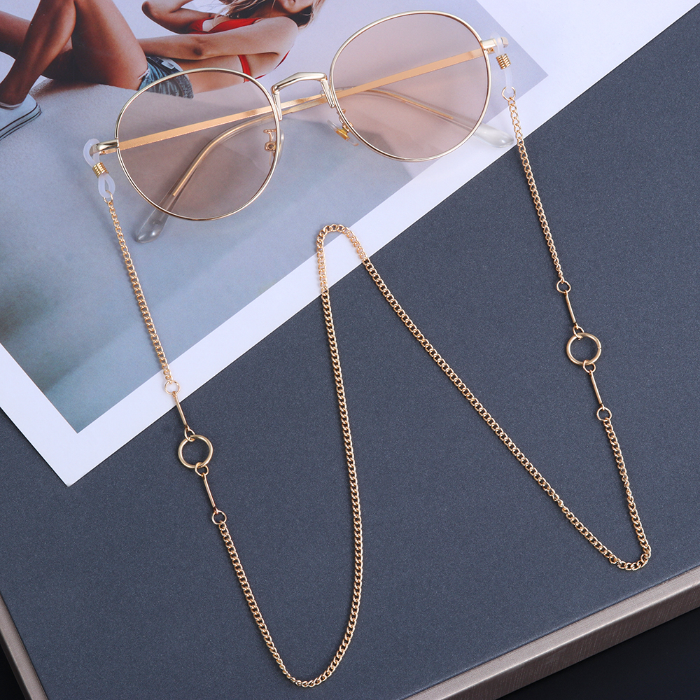 2021 Fashion Beaded Metal Glasses Chains Sunglasses Chain Reading Glasses Cords Anti lost Laces Glasses Holder Eyewear Retainer
