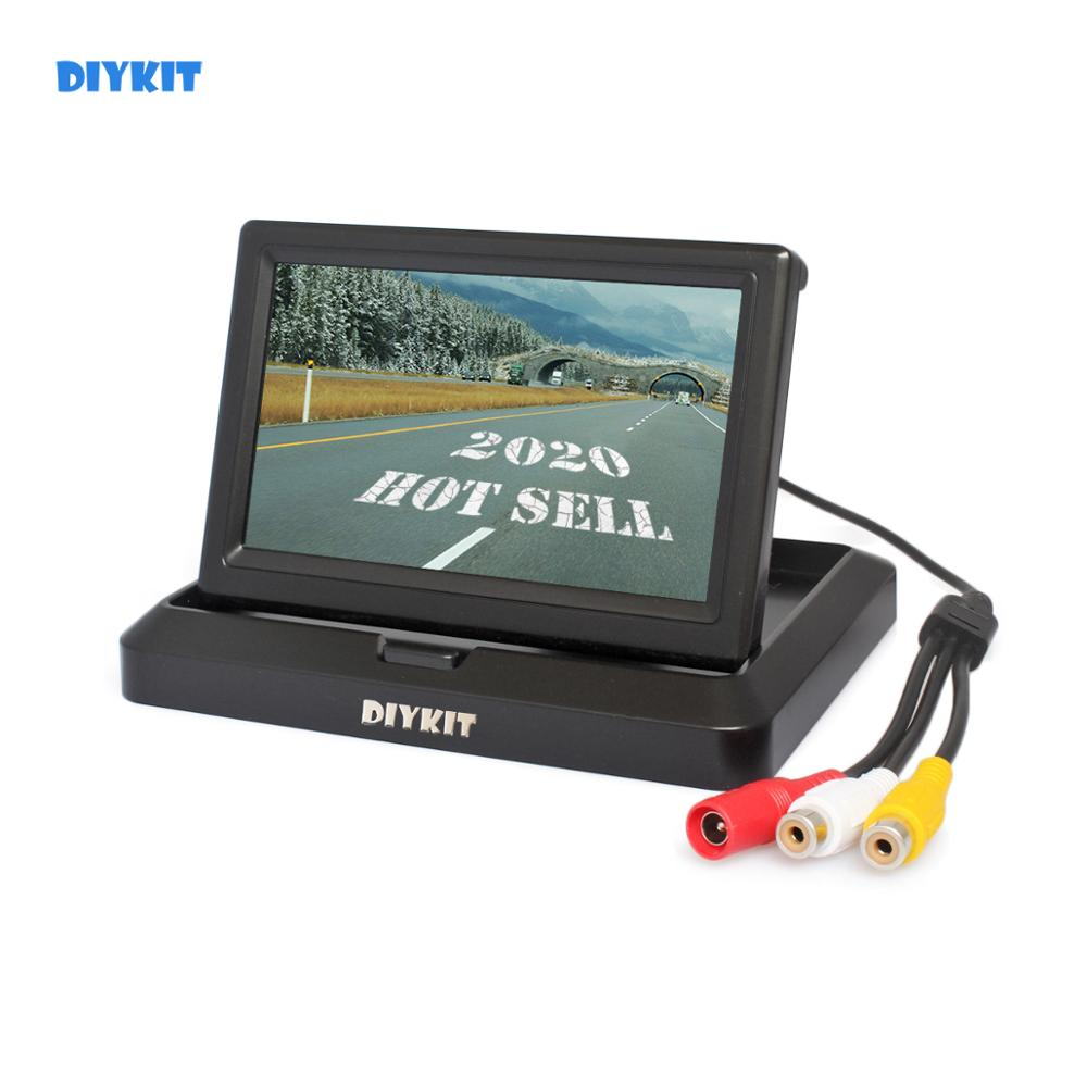 DIYKIT  800 X 480 5 Inch Foldable TFT LCD Monitor Car Reverse Rear View Car Monitor For Camera DVD VCR