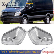 X-CAR frente espelho lateral turn signal light lâmpada blinker para vw crafter mercedes sprinter 2006 2007 2008 2009 2010-2017 0018229020