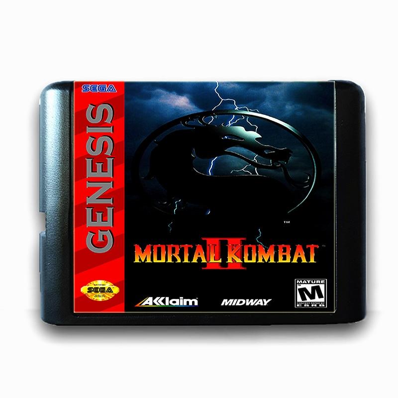 Mortal Kombat 2 for 16 bit Sega MD Game Card for Mega Drive for Genesis US