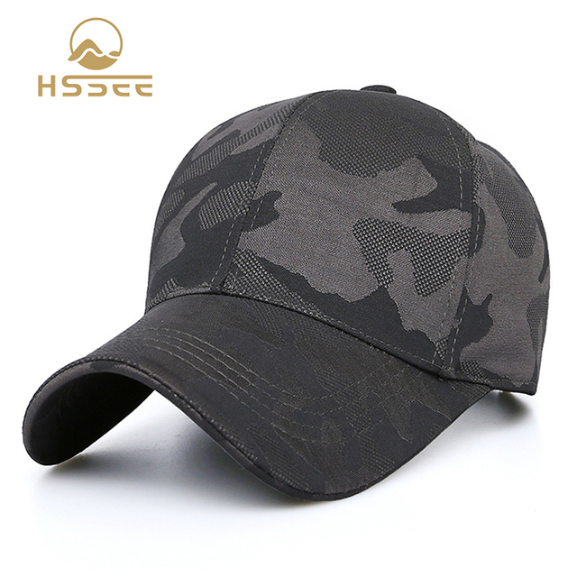 HSSEE Fashion Camouflage Cotton Men Fishing Hat Anti-rust Metal Adjustable Buckle Breathable Comfortable Outdoor Tactical Cap 1