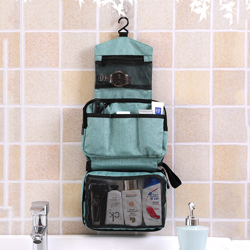 New Hanging Toiletry Storage Large Waterproof Travel Accessories Organizer Multifunction Zipper Makeup Bag Personal Hygiene Bag