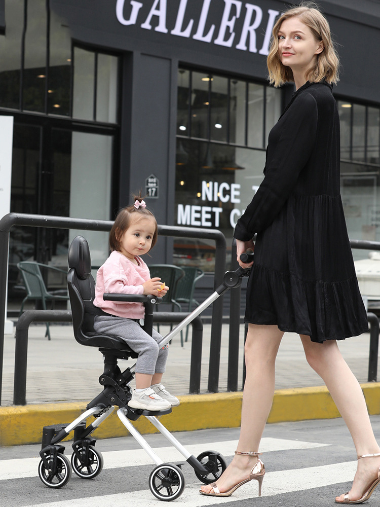 Sliding Baby Stroller Artifact Trolley Folding Lightweight Anti-rollover Two-way Children's Simple Portable Baby Cart Free Ship
