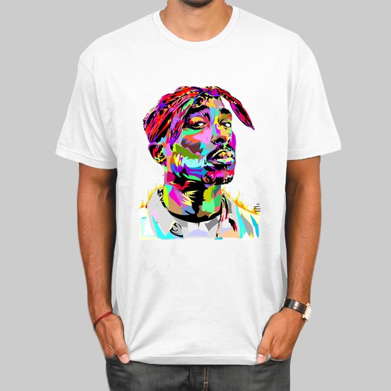 Tupac 2pac Hip Hop Swag Harajuku Streetwear Print Mens O-neck T Shirts Fashion Men And Women Tops T-shirt Short Sleeve Unisex Ts
