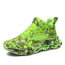 Men Sneakers Running Shoes Fashion Men Graffiti Sneakers Chunky Comfortable Shoes Male Outdoor Walking Footwear Mesh Masculio