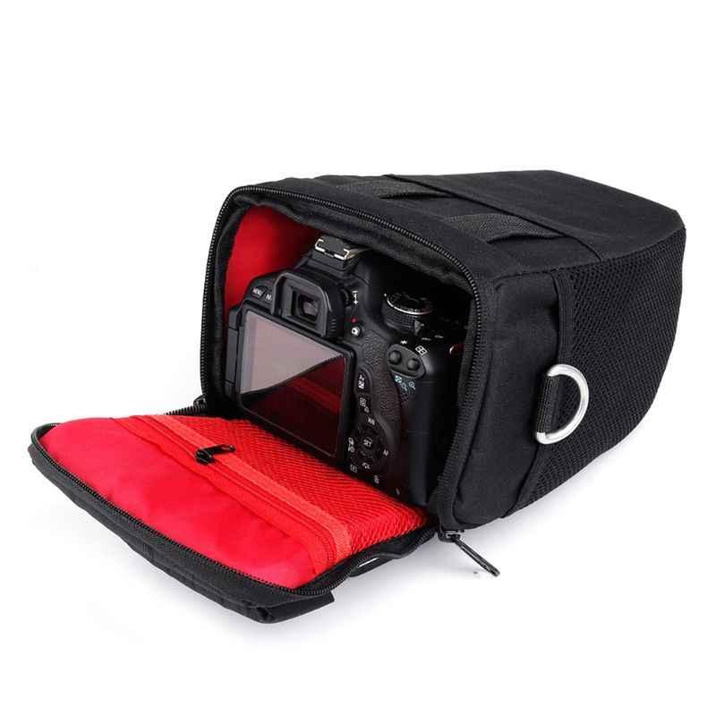 Nuovo DSLR Camera Bag Custodia Per Canon EOS 4000D M50 M6 200D 1300D 1200D 1500D 77D 800D 80D Nikon D3400 d5300 760D 750D 700D 600D