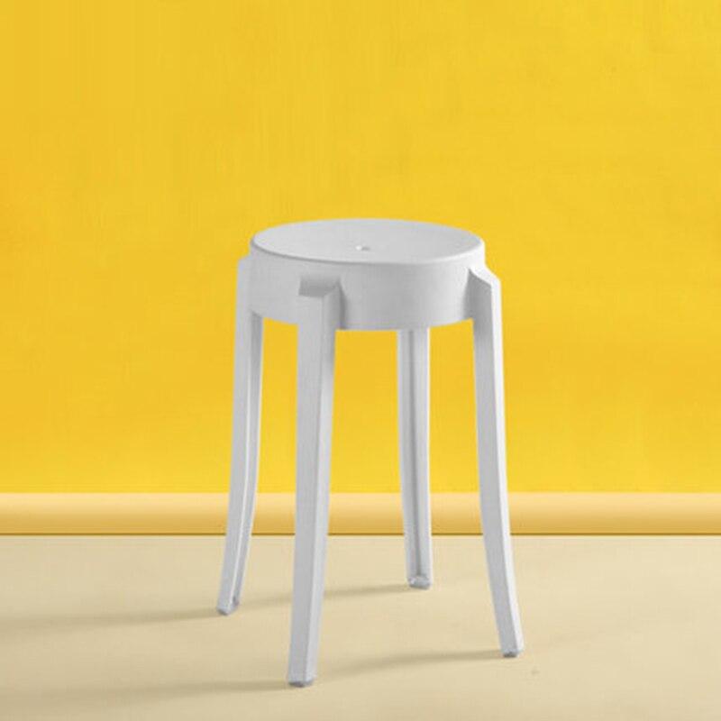 Nordic INS Creative Plastic Stool Restaurant For Dining Stool Modern Restaurant Home Bedroom Living Room Study Plastic Stool