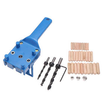41PCs Wood Doweling Jig Locator Set Dowel Pins Hole Saw 6/8/10Mm Drill Bits Suitable For Timbers Man-made Woods Wear Resistance