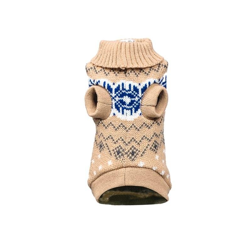 Вязаный классический свитер для собак и щенков, зимняя теплая одежда для маленьких и средних собак - Цвет: Y