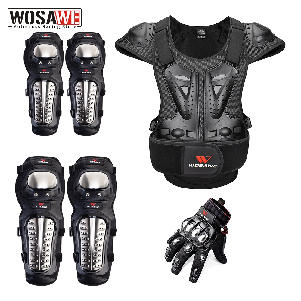 WOSAWE Motorcycle Armor Jacket Moto Racing Gear Elastic Armor Vest Motocross Riding Off Road Bike Body Protection Clothing