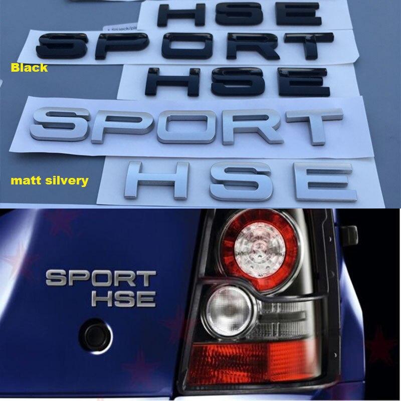 Range Rover, Matte black 1Set 3D Head Cover Hood Front Letters Emblem Sports Line Badge Letter Emblem for Range Rover L-a-n-d R-o-v-e-r car Stickers Decal Logo