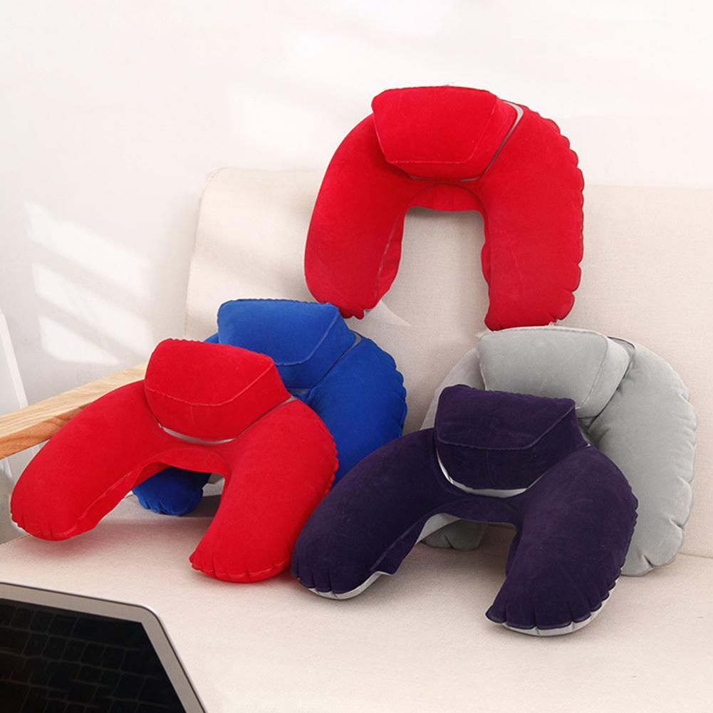 Nouveau poids léger en forme de U voyage oreiller cou voiture tête repos coussin d'air pour voyage Camping tête repos Air coussin cou oreiller