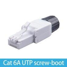 Connecteur Ethernet Cat 6a Cat6 connecteur RJ45 UTP vis Boot 8P8C connexion sans outil répétable à l'aide de câble 23-26AWG