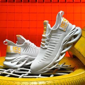 Image 2 - Modne jesienne letnie trampki lekkie modne buty do biegania kokosowe z tymi samymi przypadkowymi butami męskie oddychające siatkowe trampki