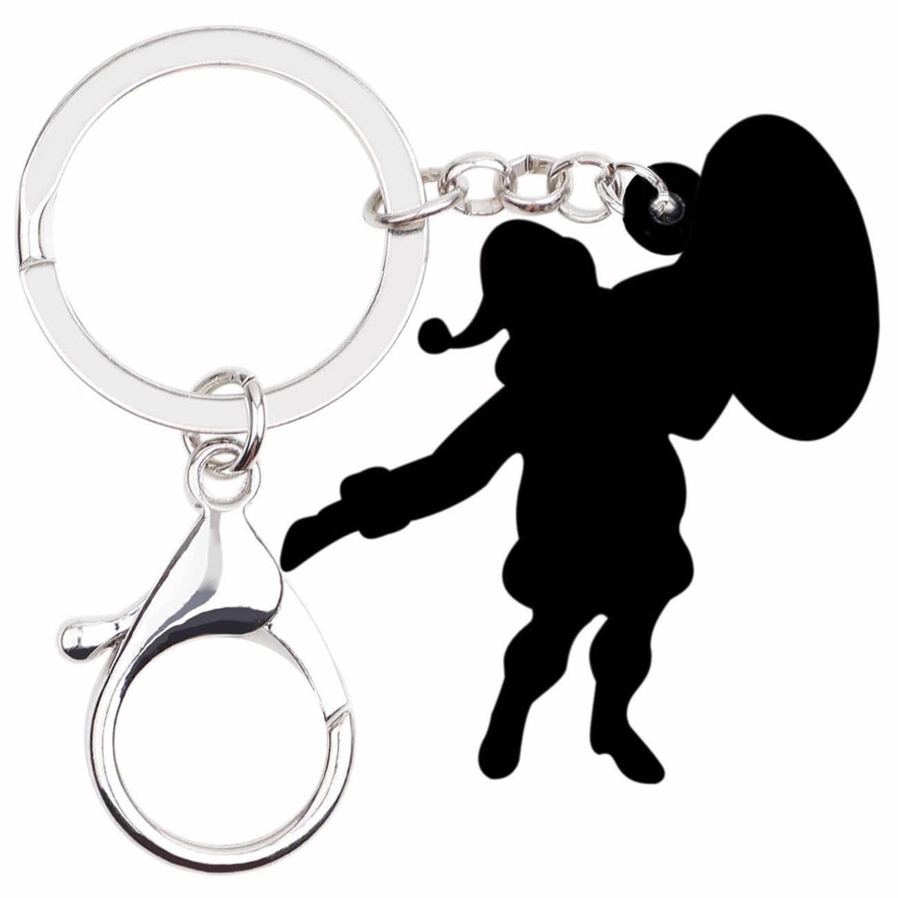 Bonsny akrylowe boże narodzenie święty mikołaj transmisji breloczki breloki pierścienie torebka samochód wisiorek – biżuteria dla kobiet dziewczyna prezent dla mężczyzny luzem
