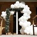 100/50 шт., матовые белые латексные воздушные шары