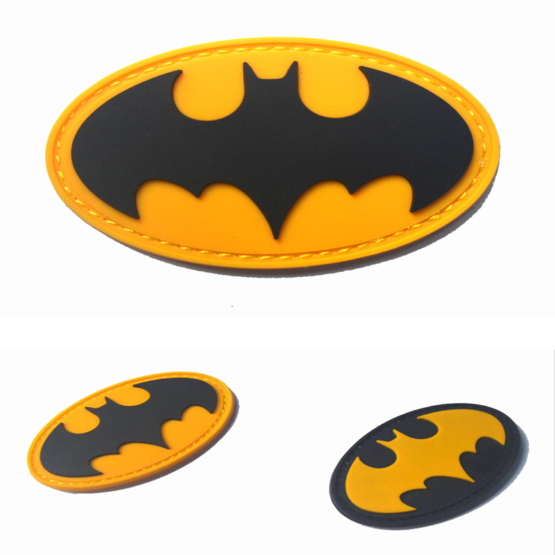Cartoon Kinder Batman PVC Stickerei <font><b>Patch</b></font> Mode Kleidung Rucksack Hut Dekorative Stickerei Armbinde PVC Epoxy Wasserdicht image