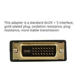 DVI к HDMI адаптер двунаправленный HDMI, DVI 24 + 1 DVI 24 + 5 мужчина к HDMI типа «мама»; Преобразователь кабельного разъема для HDTV проектора HDMI/DVI