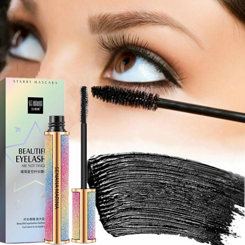 Starry Sky Mascara 4D Waterproof Fiber Silk Eyelash Thick Curling Natural Lengthening Eye Lash Rimel 4d Black Eyes Makeup