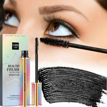 Starry Sky Mascara 4D Waterproof Fiber Silk Eyelash Thick Curling Natural Lengthening Eye Lash rimel 4d Black Eyes Makeup
