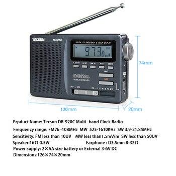 Радиоприемник TECSUN DR-920C, FM/MW/SW 3