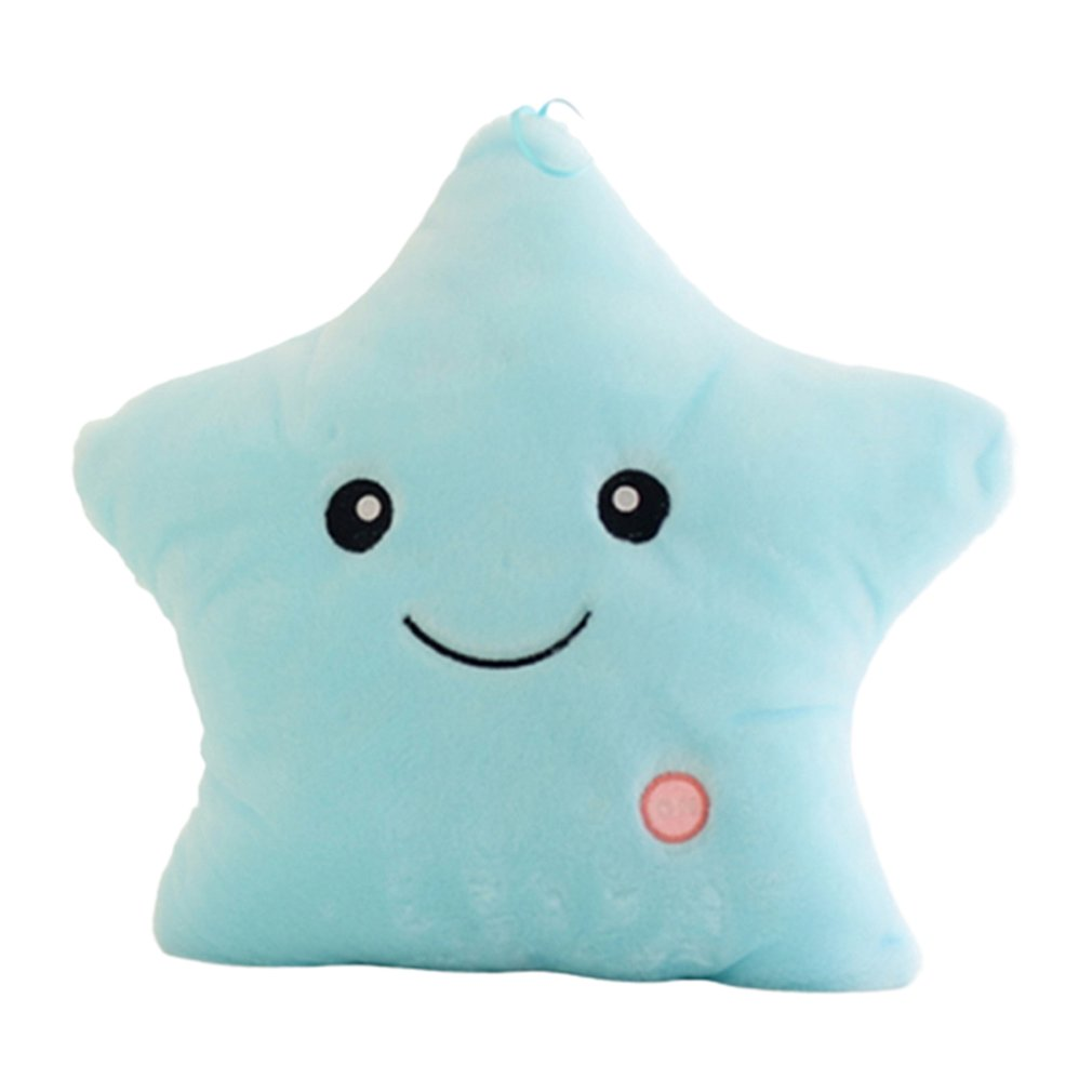 Plush Light Toys Luminous Pillow Star Cushion Colorful Glowing Pillow Plush Doll Led Light Toys Gift For Girl Kids