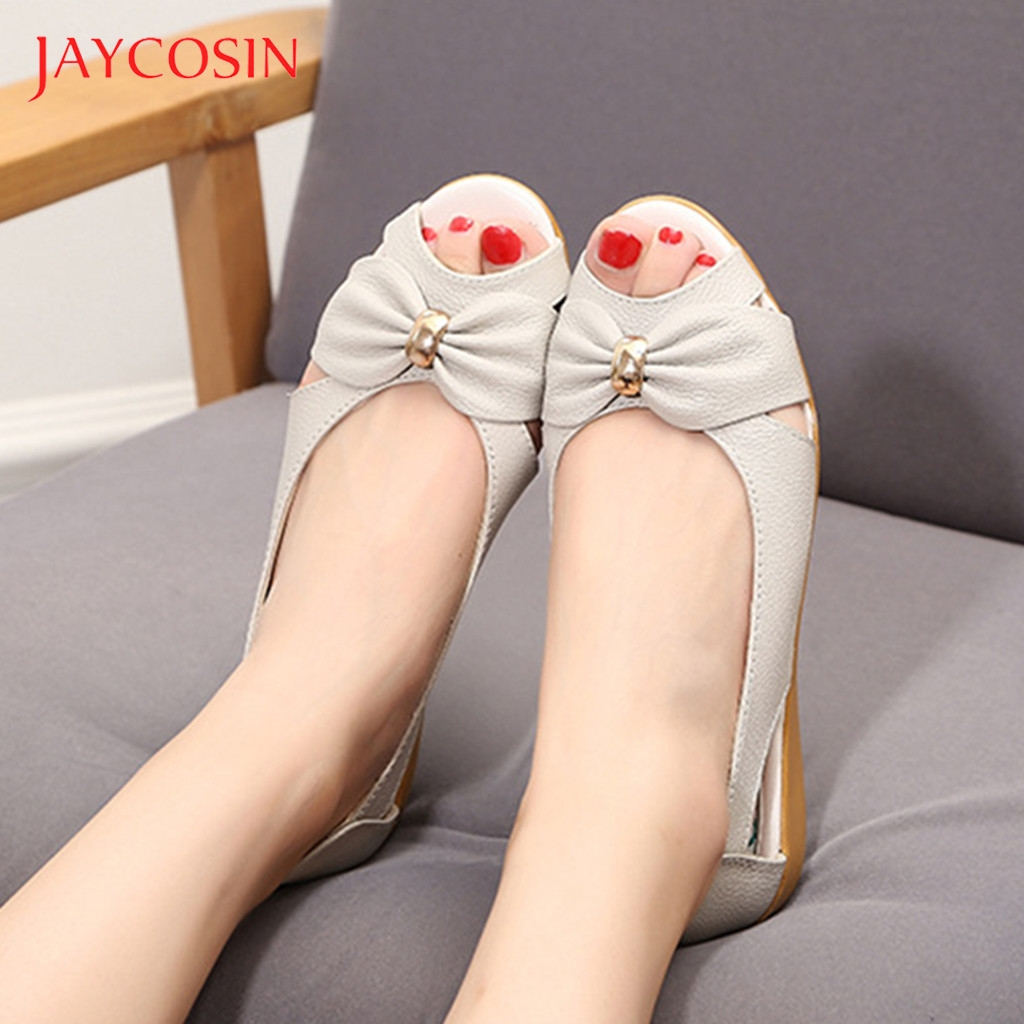 Jaycosin Summer Shoes Women Flat Sandals Open Toe Summer Fashion Slingback Ladies Boat Shoes Woman Beach sandalia feminina 12 1