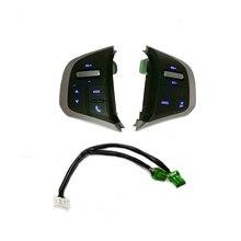 مفتاح عجلة القيادة بالضوء الأزرق لسيارة ايسوزو D Max DMAX ، مفتاح الصوت للوسائط المتعددة ، التحكم في السرعة ، لسيارة شيفروليه Dmax D Max