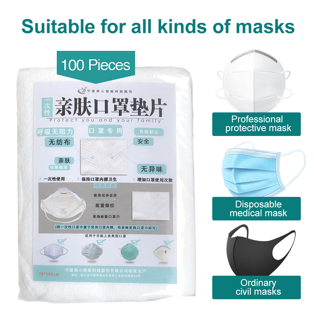 100pcs Mask Respirator Filter Pad Disposable Antiviral Corona COVID-19 Smog Prevention For Kf94 N95 KN95 Ffp3 2 1 All Face Masks