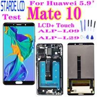 Para huawei companheiro 10 display lcd touch screen digitador assembléia para huawei companheiro 10 lcd mate10 alp l09 l29 substituição da tela