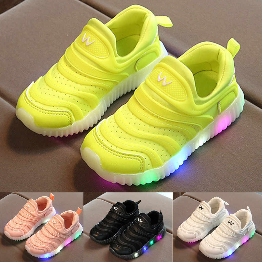 Child Luminous Sneakers New Brand Breathable LED Light Sport Shoes for Kids Sneakers Girls Boys LED Flashing Boot Shoes 21-30
