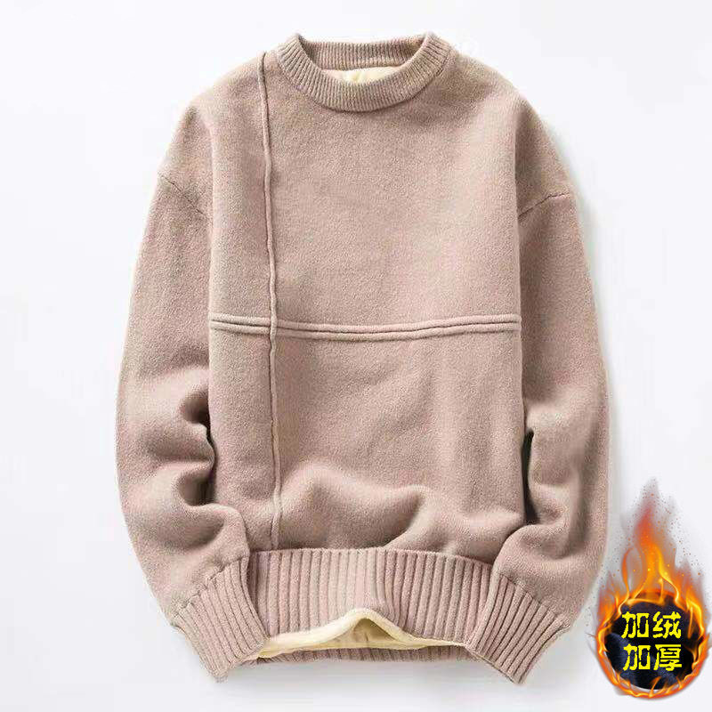 New Men's Thickened Round Neck Sweater In Winter 2019