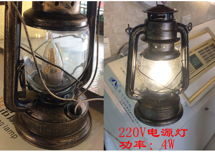 Hotel Farmhouse Use For Decoration Retro Bronze Kerosene Lamp Old-fashioned Oil Lamp Vintage Lantern Retro Nostalgic Masthead Li