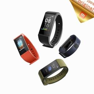 Image 1 - Умный Браслет Xiaomi Redmi Band, фитнес браслет с цветным сенсорным экраном 1,08 дюйма и Пульсометром